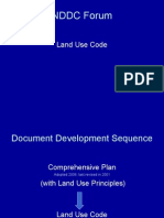 NDDC Forum Land Use Code Document Development Sequence Comprehensive