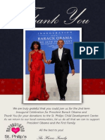 Inaugural Celebration Thank You Card