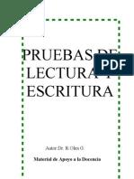 Manual Lectura y Escritura Olea, Tablas y Protocolo