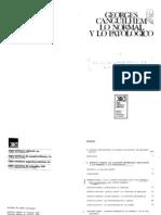Canguilhem - Lo Normal y Lo Patologico