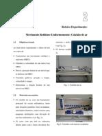 Experimento 2 - MRU colchão de ar