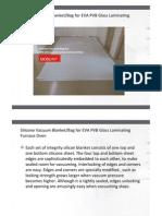 Silicone Vacuum Blanket for EVA PVB Glass Laminating Furnace Oven