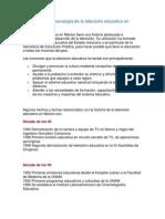 Breve cronología de la televisión educativa en México