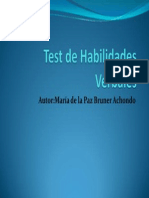 Test de Habilidades Verbales