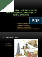Propuesta para la optimización del proceso de endulzamiento