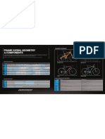 2008 Sizing Chart of Marin bicycle frame