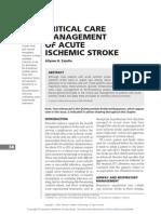 Critical Care Management of Acute Stroke - Zazulia
