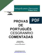 PROVAS  CESGRANRIO COMENTADAS