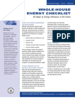 Energy Efficient Home Checklist