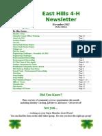 east hills 4-h newsletter december 2012 online edition