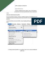 Creación de Paredes con perfiles complejos en Archicad 10