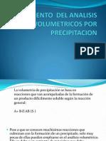 Fundamento Del Analisis Volumetricos Por Precipitacion
