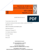 Manual de Vigilancia Tetanos Neonatal