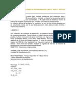 Solucion de Problemas de Programacion Lineal Por El Metodo Grafico