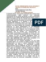 ALGUNOS ASPECTOS IMPORTANTES EN EL ESTUDIO Y APLICACIÓN DE LA TEORÍA DE-L DELITO