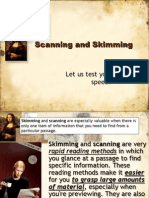 Reading Techniques Skimming Snd Scanning