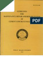 IRC SP-83-2008(PQC Reapair and Maintenanace)