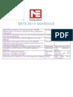 GATE 2014 Schedule