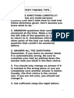 Testmanship Tips-test Wiseness by anonymous