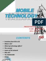 5G technology seminar presentation
