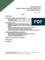 HINTZE Jorge - Evaluacion de Resultados Efectos e Impactos de Valor Publico