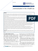 Doctor-Patient Communication in the E-health Era