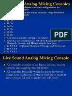 Live sound reinforcementConsole