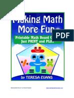 Making Math More Fun Math Board Games