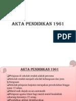 Akta Pendidikan 1961