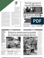 Versión impresa del periódico El mexiquense  20 agosto 2013