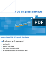 Instruction of GU BTS Goods Distribute