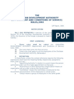 CHOLISTAN DEVELOPMENT AUTHORITY (Appointment and Conditions of Service) Rules 1993