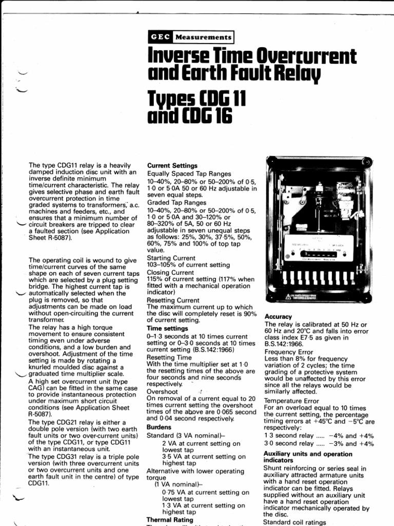cdg 11 relay catalogue relay alternating current rh scribd com Starter Relay Wiring Diagram Starter Relay Wiring Diagram