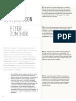 In Conversation - Peter Zumthor