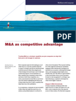 McKinsey- M & a as Competitive Advantage
