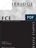 Cambridge - FCE Reading Sample Paper