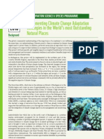 Conservation Sciences & Species Programme - Implementing Climate Change Adaptation Strategies in the World's most Outstanding Natural Places (WWF – 2010)