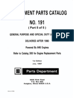 EMD ReplacementPartsCatalog No.191for645Engines PartA