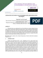 Estimation of Enob of a d Converter Using Histogram Test Technique