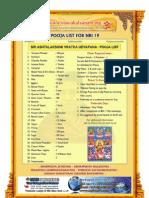ashtalakshmi udyapana puja list for nri
