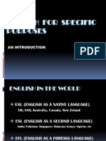 English for Specific Purposes 2nd Meeting