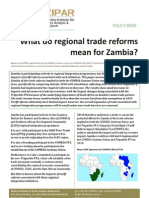 Policy Brief What do Regional Trade Reforms Mean for Zambia