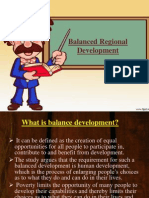 Balanced Regional Development of Industries