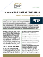Policy Brief- Creating and Wasting Fiscal Space, Zambian Fiscal Perfomance from 2001 to 2011