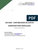 E1-Exercícios de Custos - Primeira parte