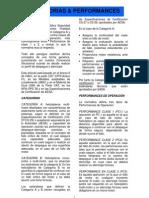 CATEGORÍAS & PERFORMANCES