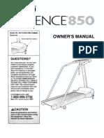 Weslo Cadence 859 Treadmill Manual