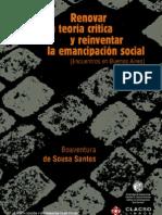 Santos Renovar la teoría crítica.pdf