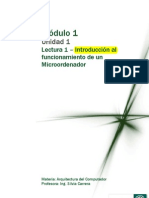 Enviando M1 Lectura 1 - Introducción al funcionamiento de un Microoedenador 2011