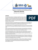 """""""Fourth Global Congress on Combating Counterfeiting and Piracy"""" (DUBAI DECLARATION)"""
